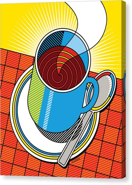 Diners Canvas Print - Diner Coffee by Ron Magnes