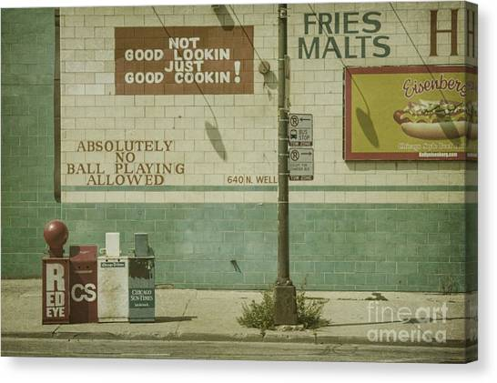 Hot Dogs Canvas Print - Diner Rules by Andrew Paranavitana