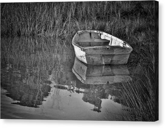 Dinghy In The Marsh Canvas Print