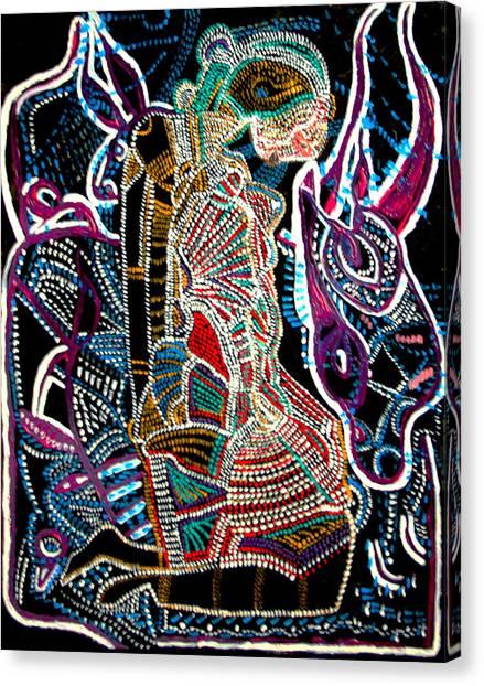 Dinka Bride Canvas Print