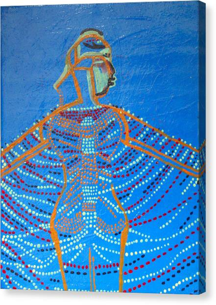 Dinka Corset Canvas Print