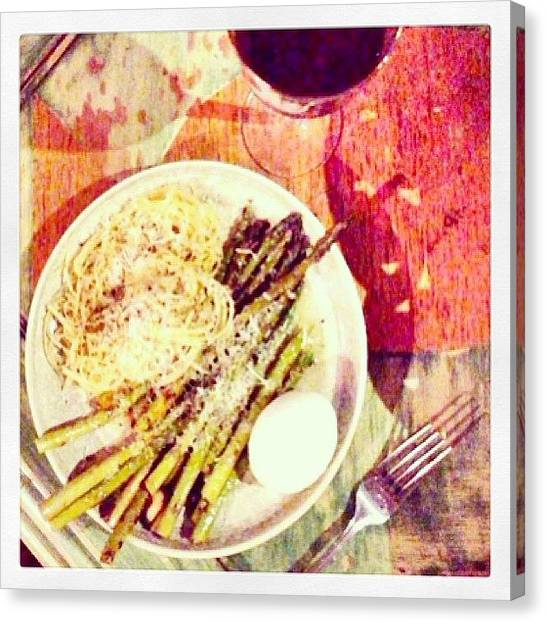 Asparagus Canvas Print - #dinner by Angela Breeden