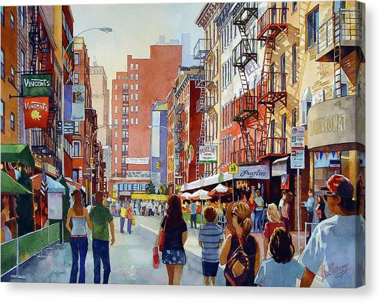 Dinner In Little Italy Canvas Print