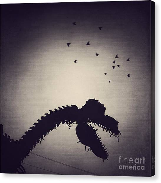 Steak Canvas Print - Dino In The City by Trish Mistric