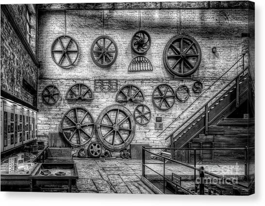 Industrial Canvas Print - Dinorwig Quarry Workshop V2 by Adrian Evans