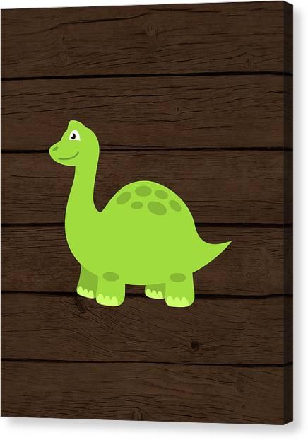 Dinosaurs Canvas Print - Dinosaur Wood I by Tamara Robinson