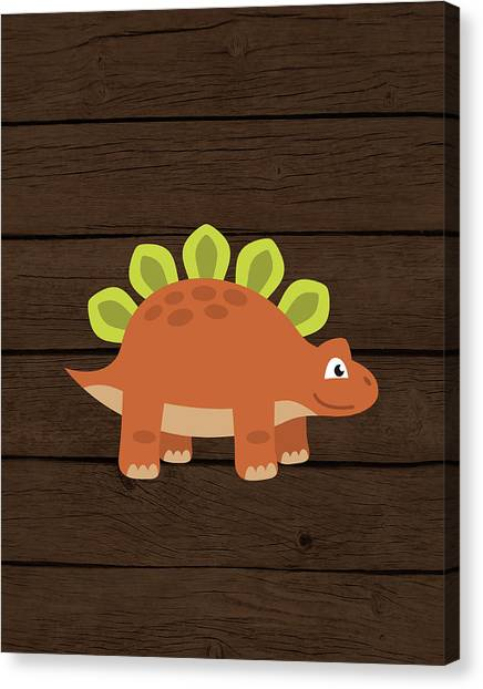 Dinosaur Canvas Print - Dinosaur Wood IIi by Tamara Robinson
