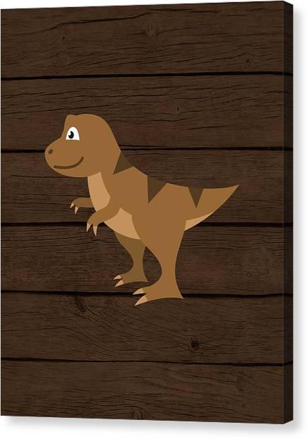 Dinosaur Canvas Print - Dinosaur Wood Iv by Tamara Robinson