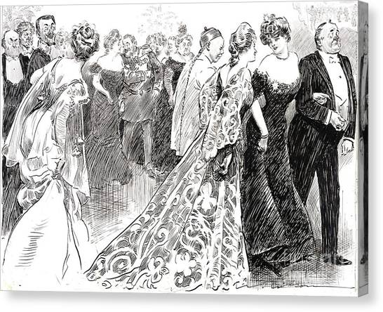 D.c. United Canvas Print - Diplomatic Reception 1904 by Padre Art
