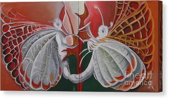 Diptych-double Canvas Canvas Print