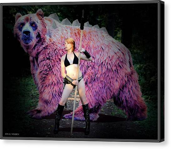 Dire Bear Canvas Print