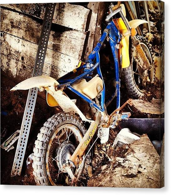 Dirt Bikes Canvas Print - Dirt Bike  by Dominique  Ledoyen