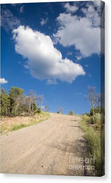 United Way Canvas Print - Dirt Road by Jim Pruitt