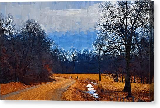 Dirt Road Canvas Print