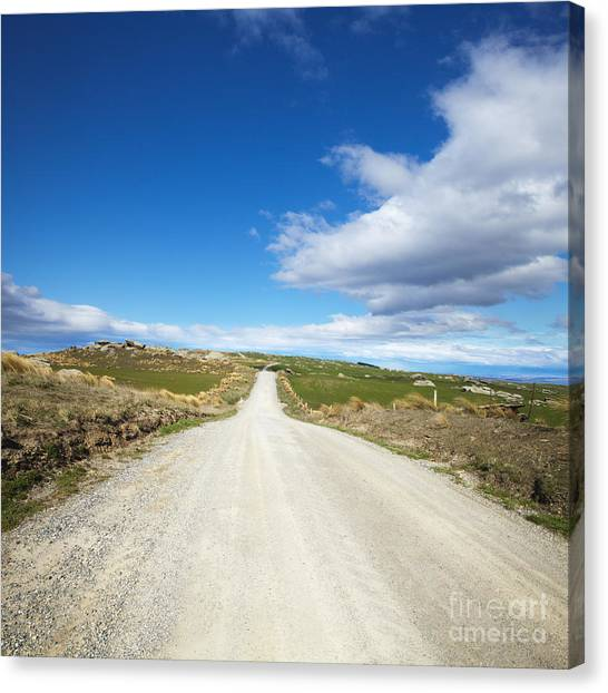 Country Canvas Print - Dirt Road Otago New Zealand by Colin and Linda McKie