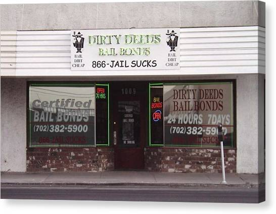 Dirty Deeds Bail Bonds In Las Vegas Nevada Canvas Print