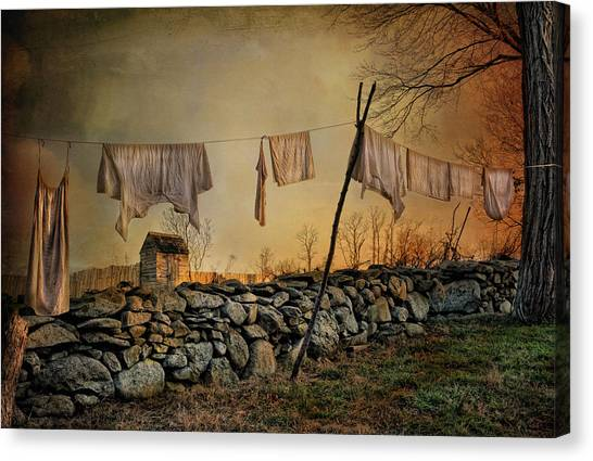 Linen On The Line Canvas Print