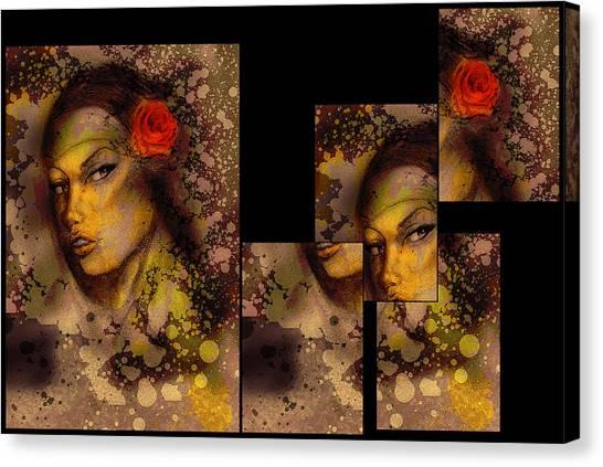 Cholitas Canvas Print - Dirty Mirror by Alberto Galvez
