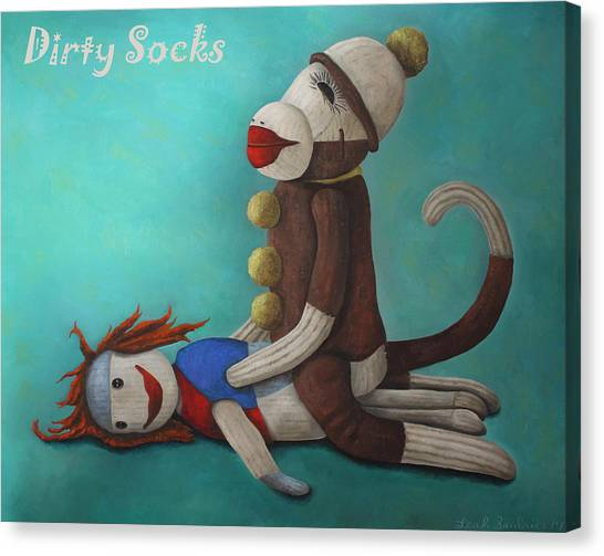 Dirty Socks 4 With Lettering Canvas Print