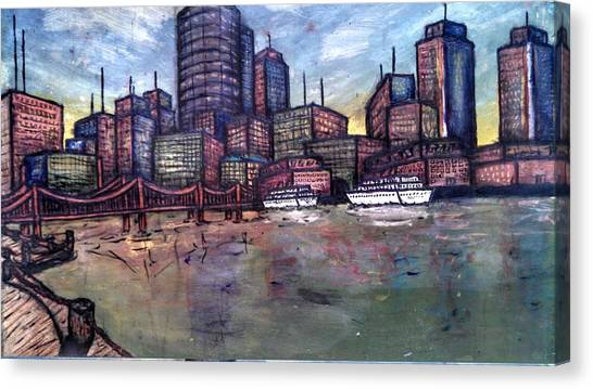 Dirty Water Canvas Print by Michael Schimank
