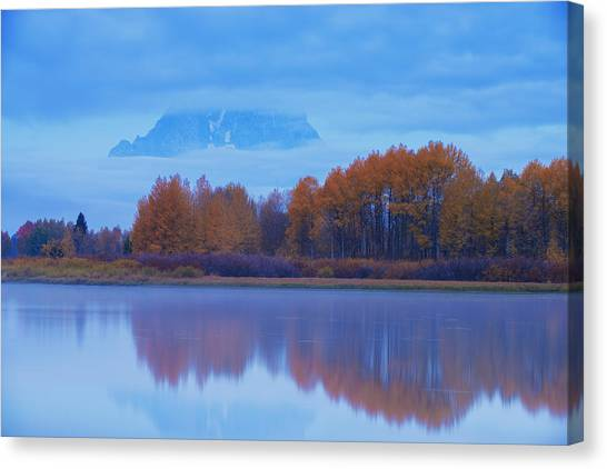 Teton Canvas Print - Disappearing Act by Joseph Rossbach