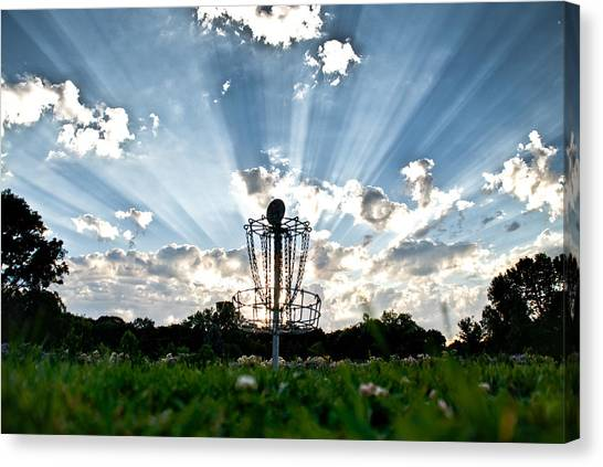 Disc Golf Canvas Print - Disc Golf Heaven by Christopher Broste
