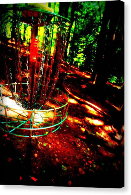 Disc Golf Canvas Print - Discin Colors by Alicia Forton
