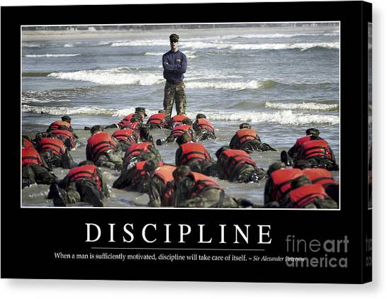 Special Forces Canvas Print - Discipline Inspirational Quote by Stocktrek Images