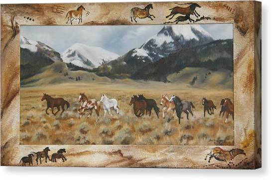 Discovery Horses Framed Canvas Print