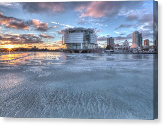 Discovery World On Ice Canvas Print