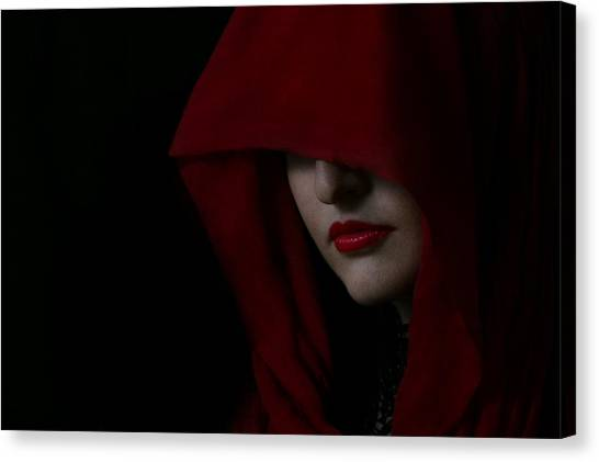 Disguised In Red Canvas Print