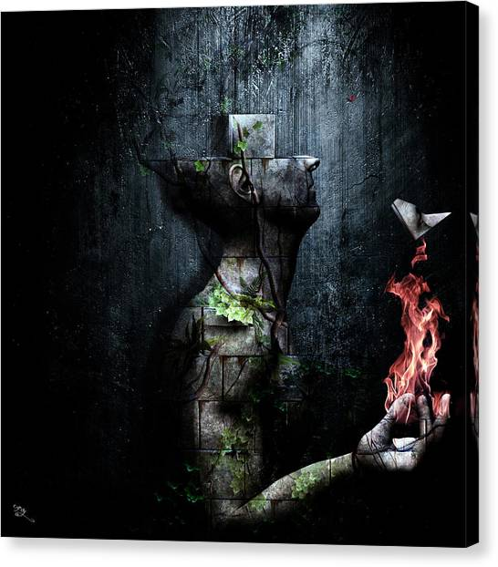 Block Canvas Print - Dismantle The Dark We March On by Cameron Gray