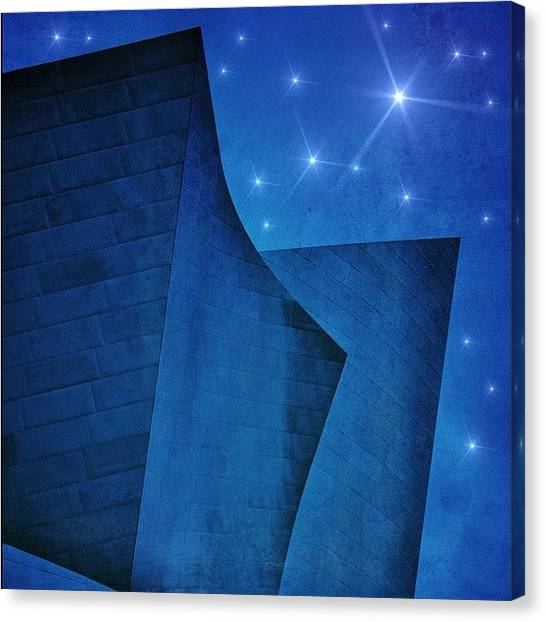 Metal Canvas Print - #disneytheater #theater #disney #night by Jill Battaglia