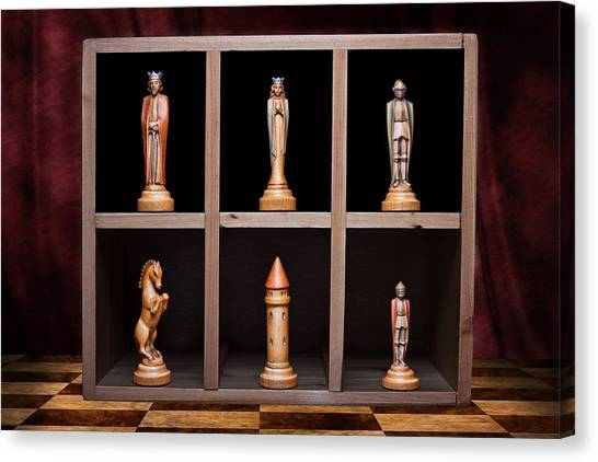 Bishops Canvas Print - Display Of Strength Still Life Chess by Tom Mc Nemar