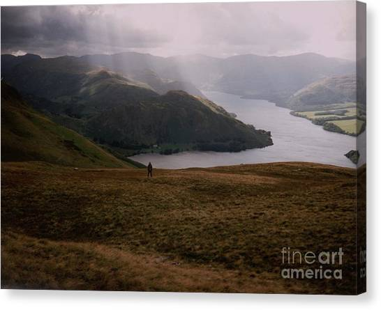 Distant Hills Cumbria Canvas Print