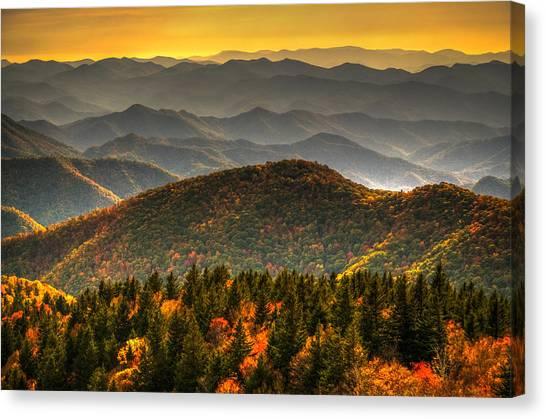Distant Ridges Canvas Print