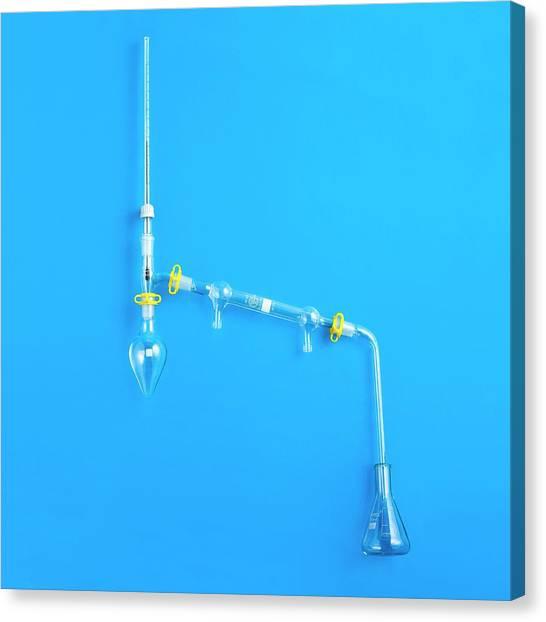 Distillation Apparatus Canvas Print by Science Photo Library