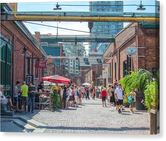 Distillery District Canvas Print by Eric Dewar