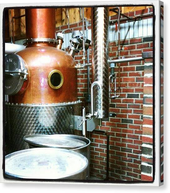 Distillery Canvas Print - #distillery #flaghill #booze by Kate Bedford