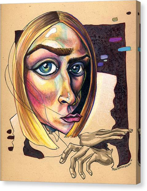 Distorted Beauty Canvas Print