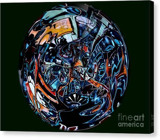 Distorted Earth - No.8345 Canvas Print