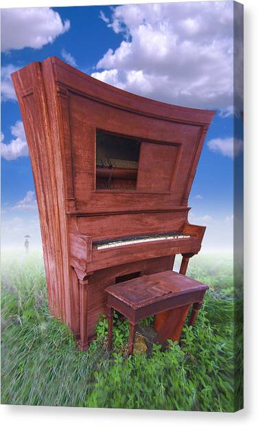 Distort Canvas Print - Distorted Upright Piano by Mike McGlothlen