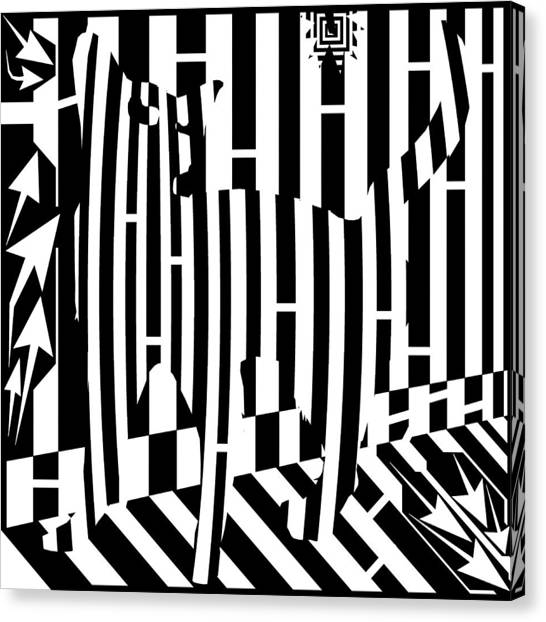 Distracted Cat Maze Canvas Print by Yonatan Frimer Maze Artist