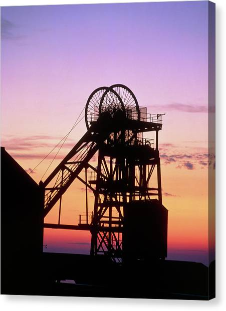 Disused Pit Head In Whitehaven Canvas Print by Martin Bond/science Photo Library