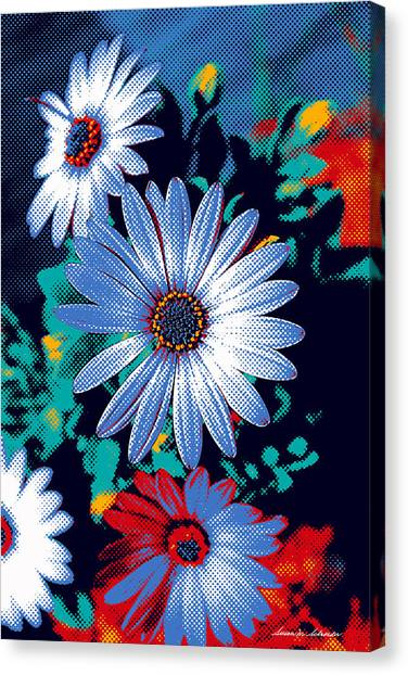 Dithered Daisies Canvas Print
