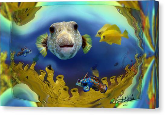 Diver's Perspective Canvas Print