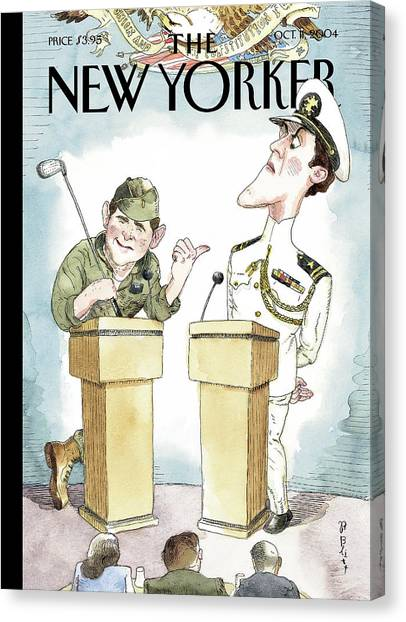 National Guard Canvas Print - Diversionary Tactics by Barry Blitt