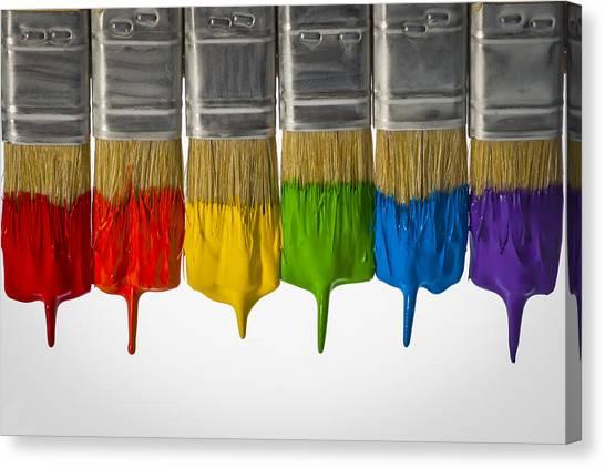 Diversity Paint Brushes Horizontal  Canvas Print