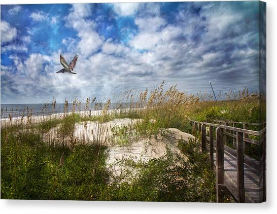 Seagrass Canvas Print - Divine Beach Day  by Betsy Knapp