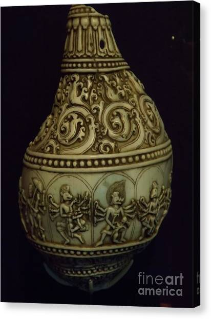 Divine Conch Hindu God Varaha Canvas Print
